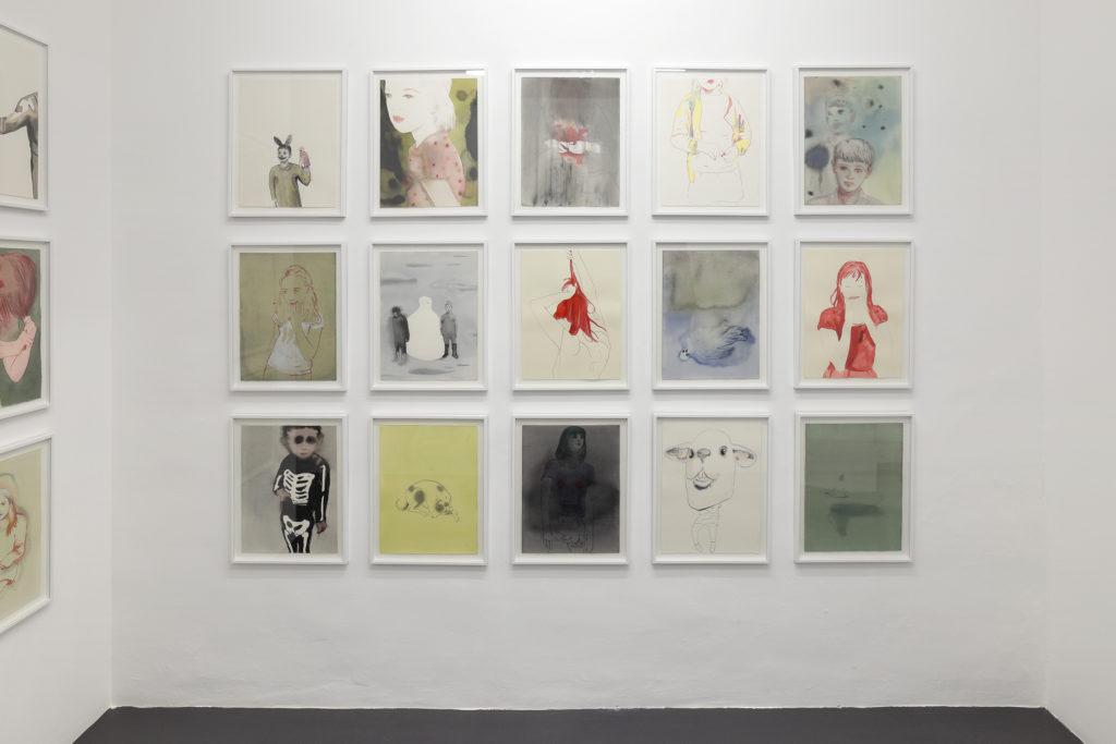 Vue de l'exposition Échos, 2014