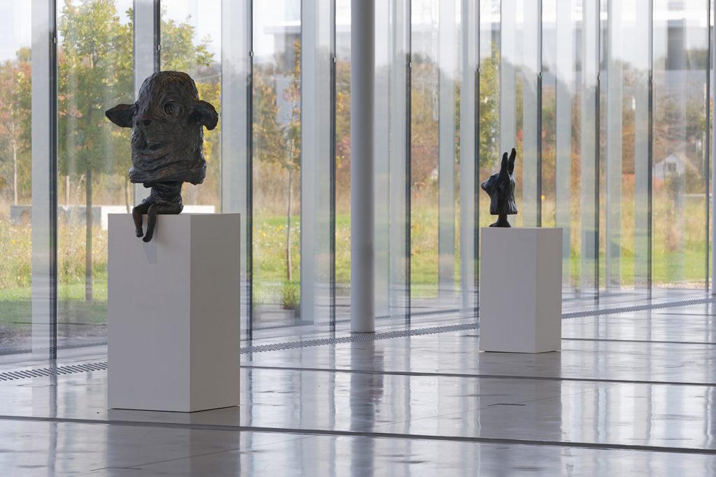 Vue de l'exposition Tenir, 2018