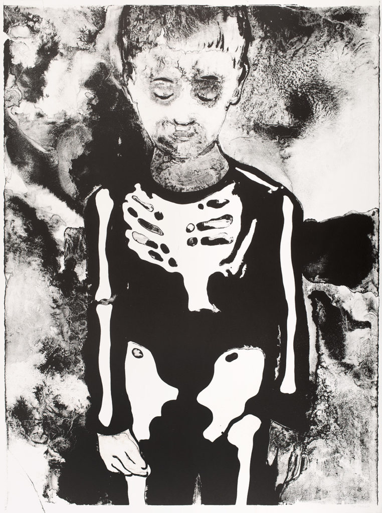Garçon au squelette, 2016