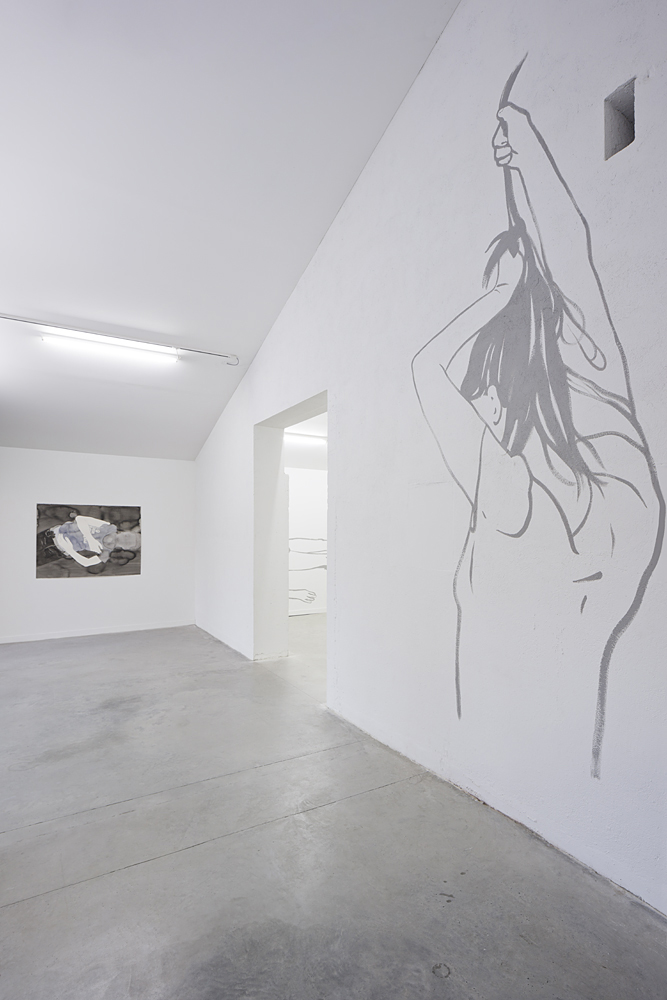 Vue de l'exposition Étant donné un mur, 2014